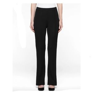 Exclusively MISOOK straight leg knit black pants